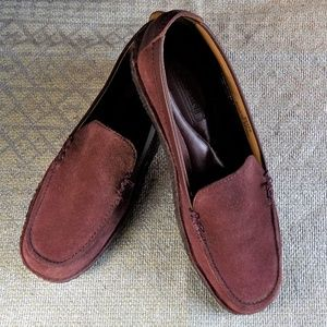 Lands' End 8.5M Crepe Sole Venetian Loafers Brick
